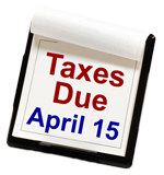 April 15 is the normal tax deadline, Royal Taxes, tax preparation